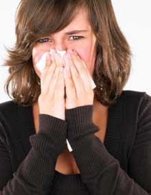 Girl Sneezing